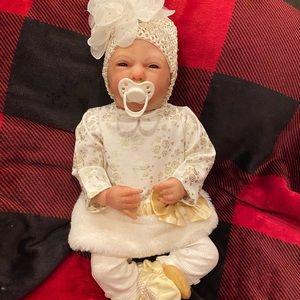 Ooak reborn baby art .